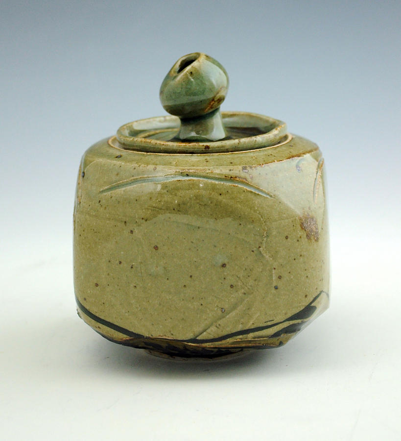 Lidded Figure 10 Ceramic Art  - Lidded Figure 10 Fine Art Print