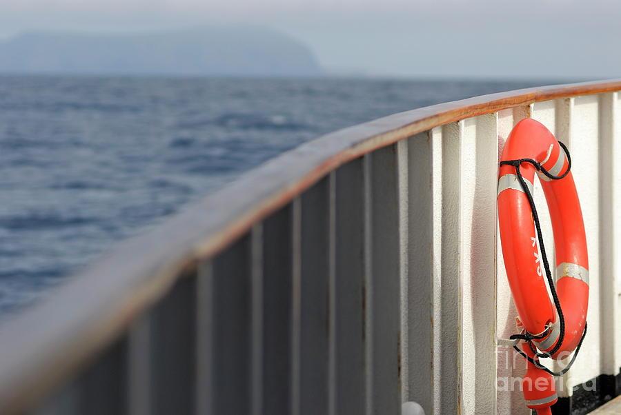 Life Belt On Deck Photograph by Sami Sarkis