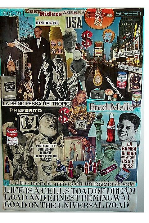 Life Is A Cell Toad Of Dream Load And Ernest Hemingway Goad On The Universal Road Mixed Media