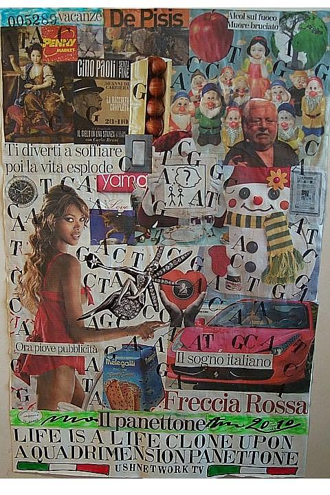 Life Is A Life Clone Upon A Quadrimension Panettone Mixed Media