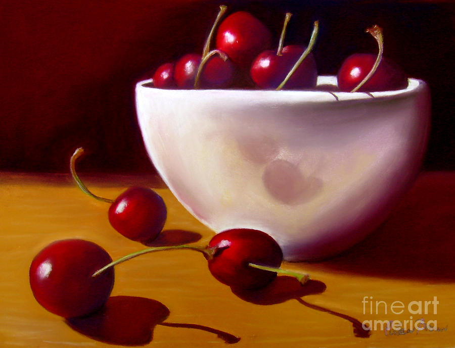 Life Is Just A Bowl Of Cherries Painting  - Life Is Just A Bowl Of Cherries Fine Art Print