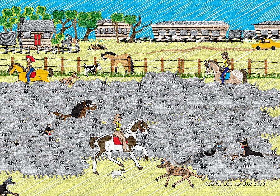 Life On A Sheep Station Digital Art