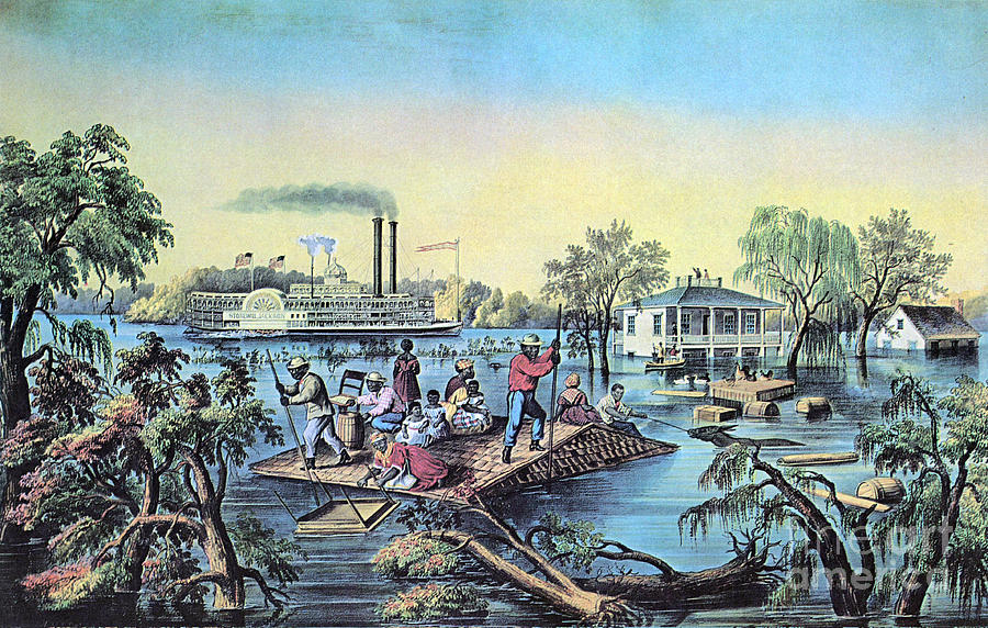 Life On The Mississippi, 1868 Photograph