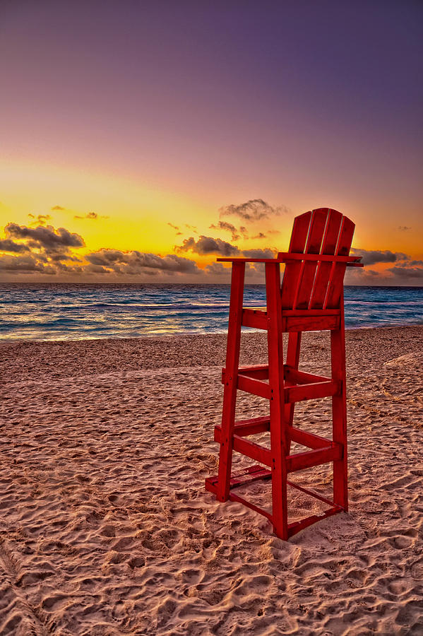 Lifeguard Chair Photograph  - Lifeguard Chair Fine Art Print