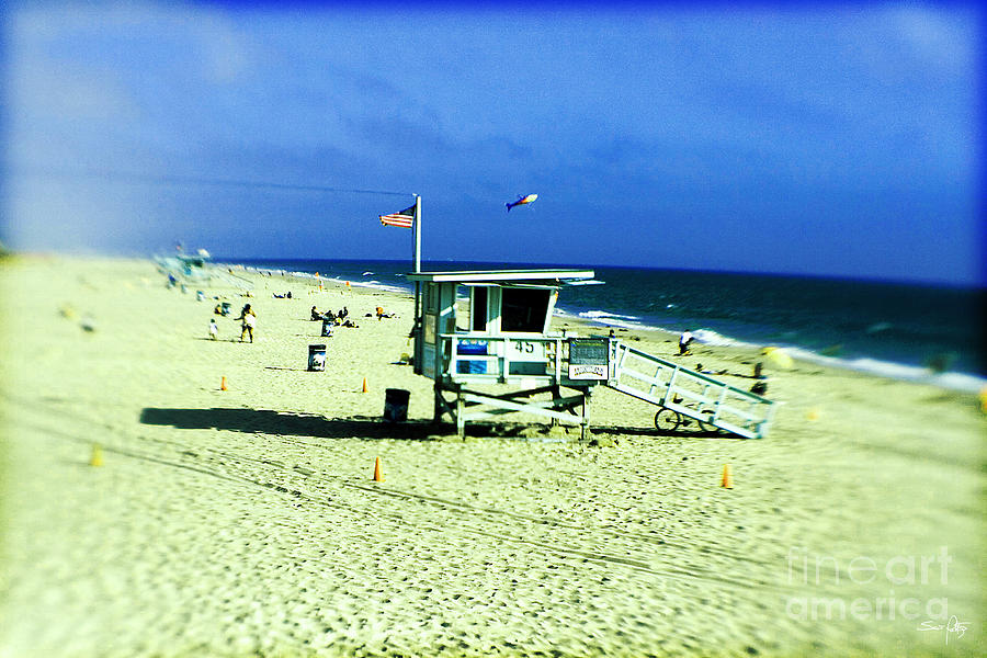 Lifeguard Shack Photograph  - Lifeguard Shack Fine Art Print