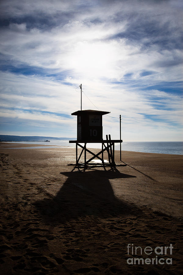 Lifeguard Tower Newport Beach California Photograph  - Lifeguard Tower Newport Beach California Fine Art Print