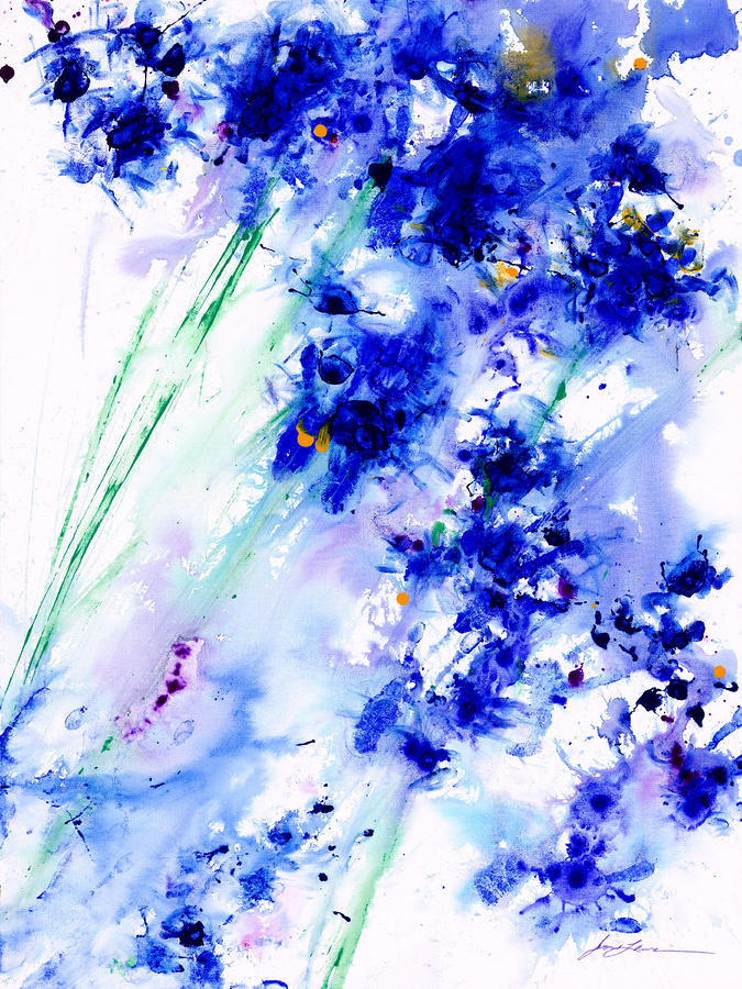 Lifes Drama Blue Painting