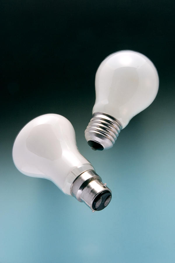 Bayonet Mount Photograph - Light Bulb Fittings by Sheila Terry