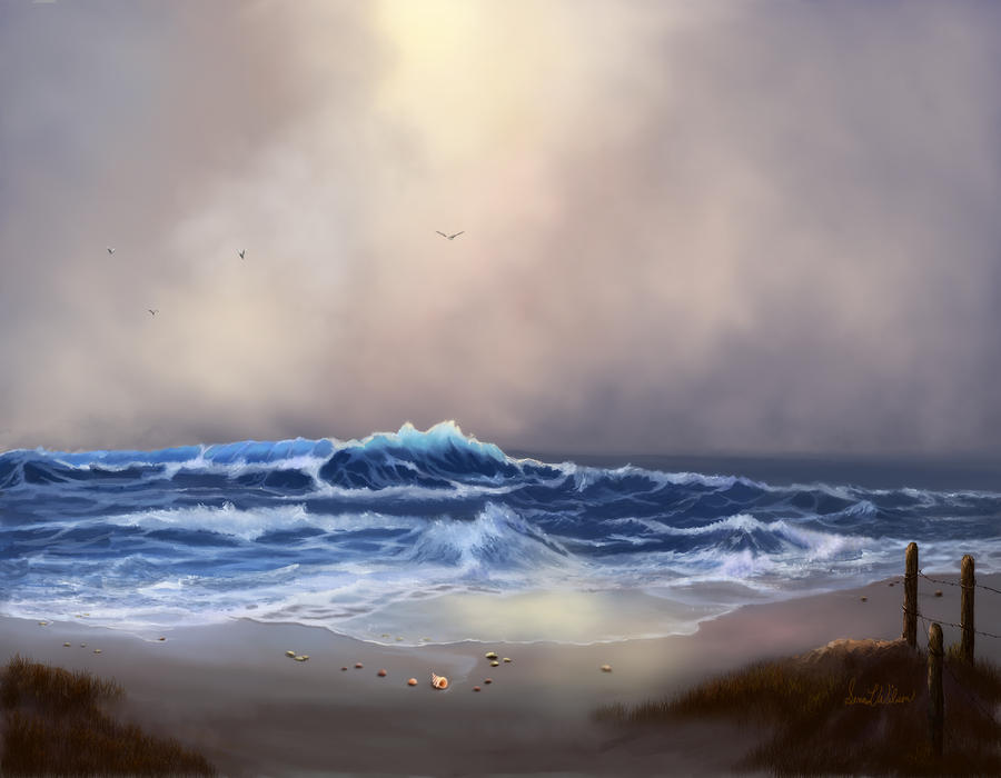 Light In The Storm Painting  - Light In The Storm Fine Art Print