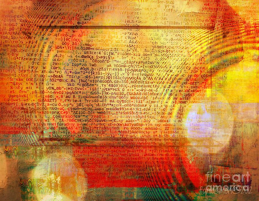 Fania Simon Mixed Media - Light Word by Fania Simon