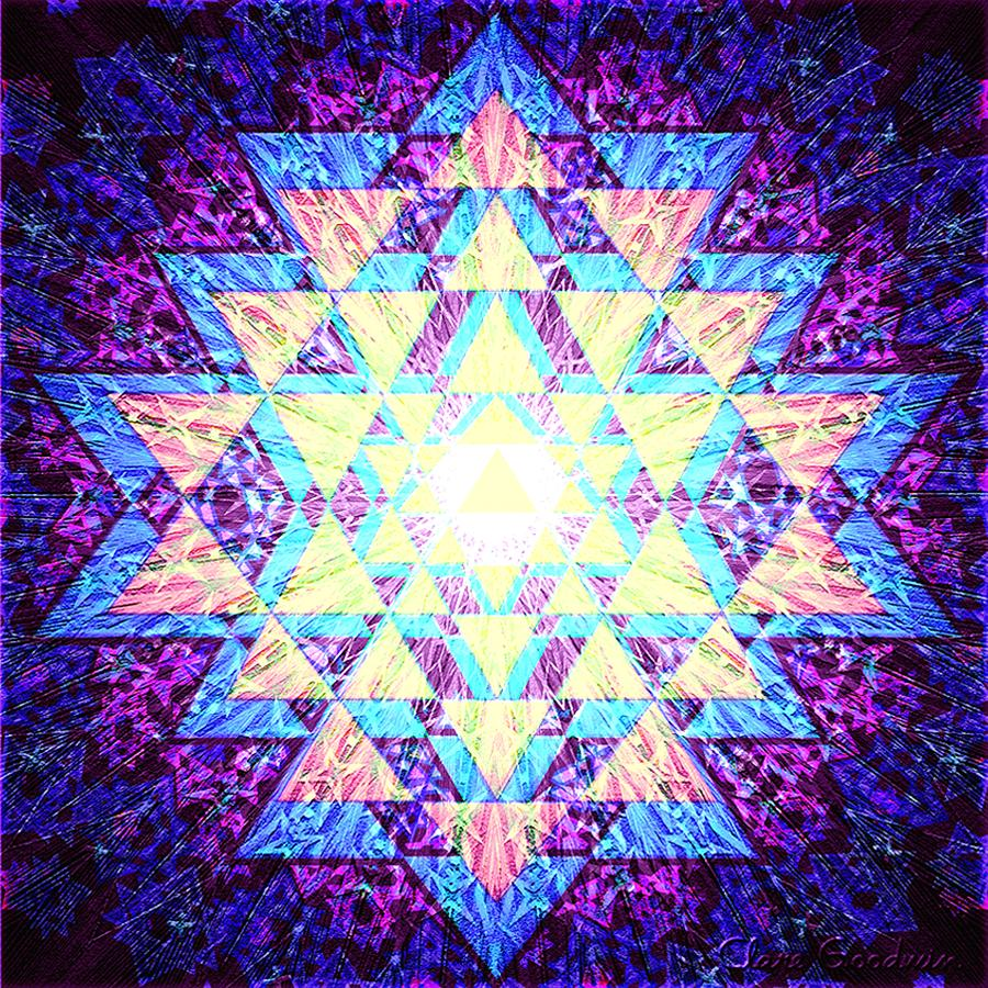 Light Yantra Digital Art  - Light Yantra Fine Art Print