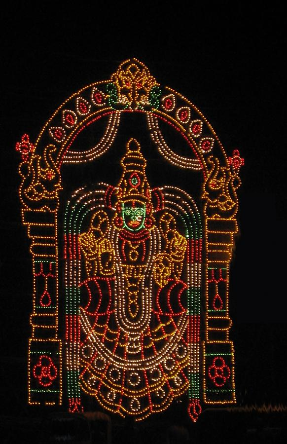 Lighted Durga Photograph