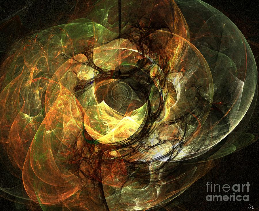 Lighted Orbs Digital Art  - Lighted Orbs Fine Art Print
