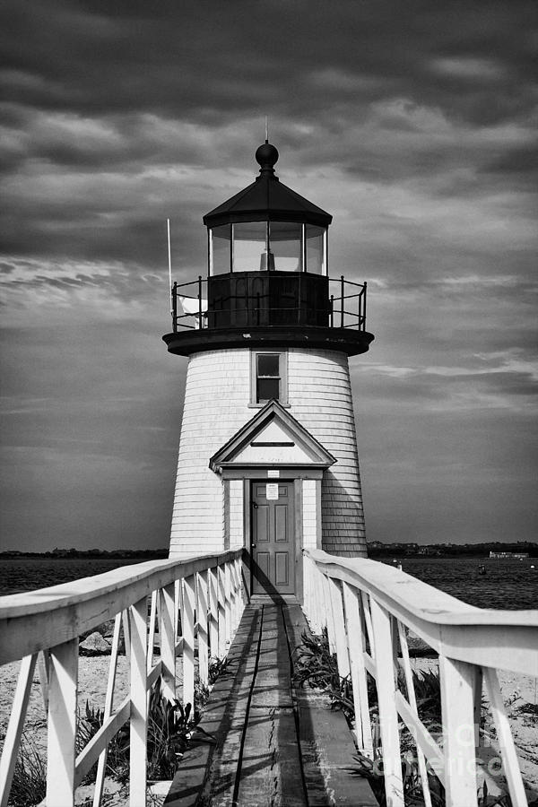 Lighthouse At Nantucket Island II - Black And White Photograph