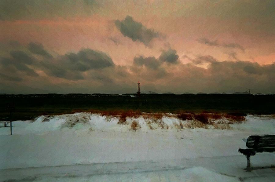 Lighthouse Beach  Photograph
