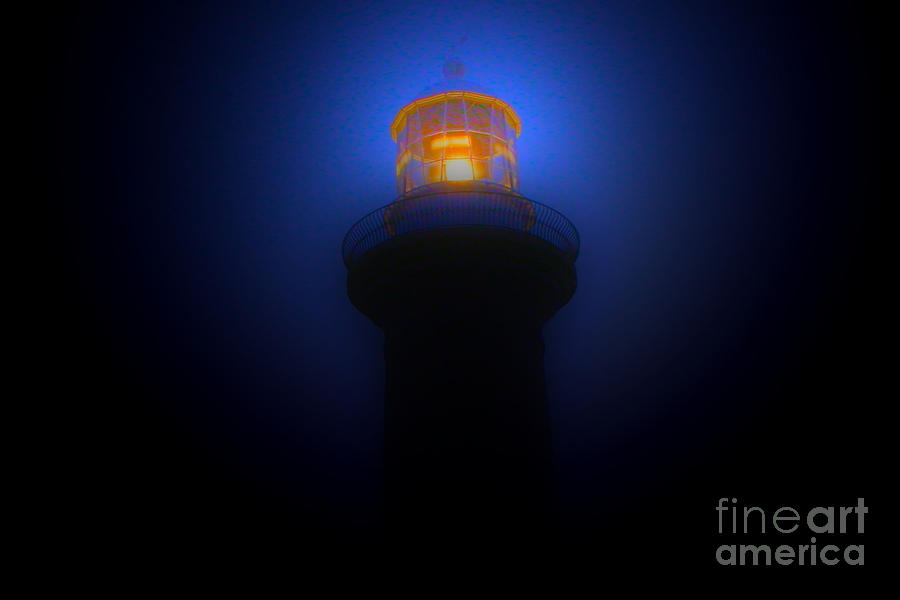 Lighthouse Photographs Photograph - Lighthouse Glow by Joanne Kocwin