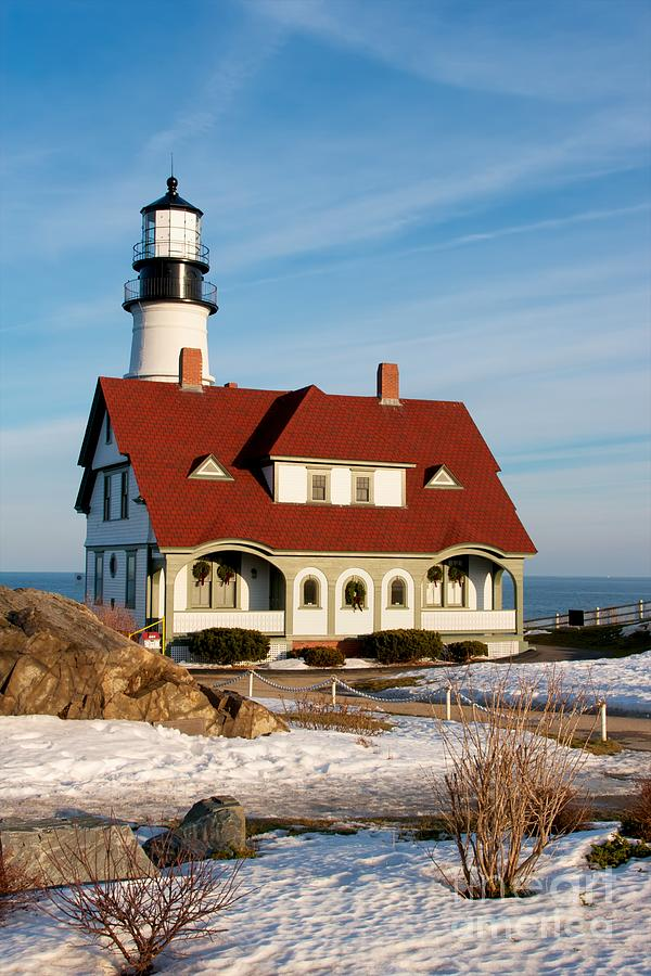 Lighthouse In Winter Photograph  - Lighthouse In Winter Fine Art Print