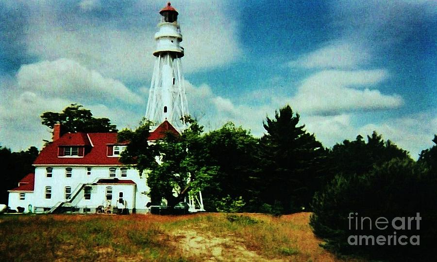 Lighthouse Off Lake Michigan Photograph