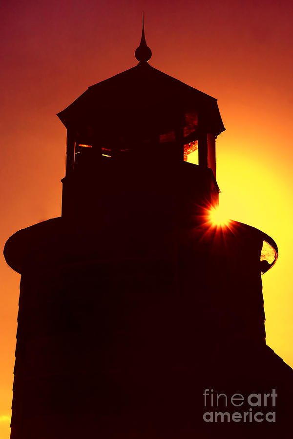 Lighthouse Photograph - Lighthouse Sunset by Joann Vitali