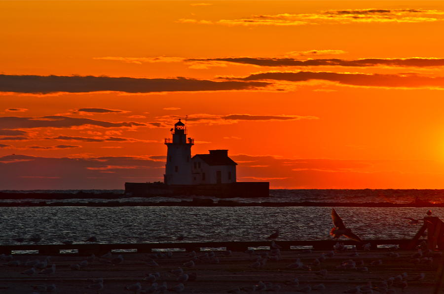 Lighthouse Sunset Photograph  - Lighthouse Sunset Fine Art Print