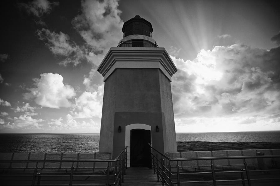 Lighthouse With Dramatic Sky Photograph