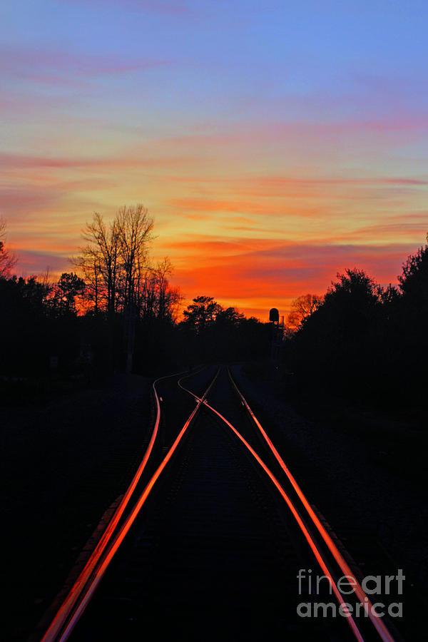 Lighting Up The Tracks Photograph