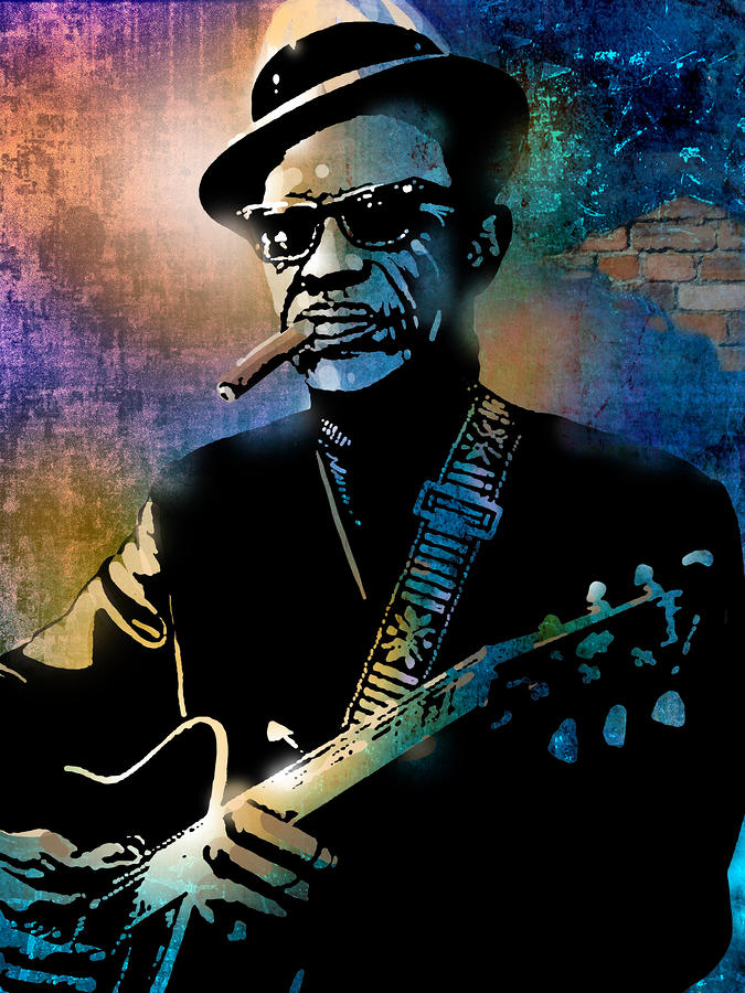 Lightnin Hopkins Painting  - Lightnin Hopkins Fine Art Print