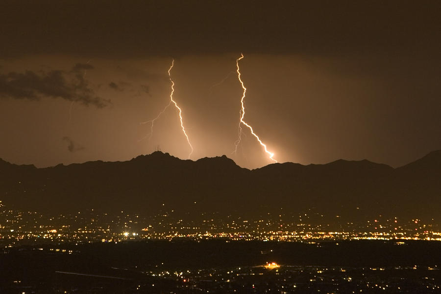 Lightning Bolt Strikes Out Of A Typical Photograph