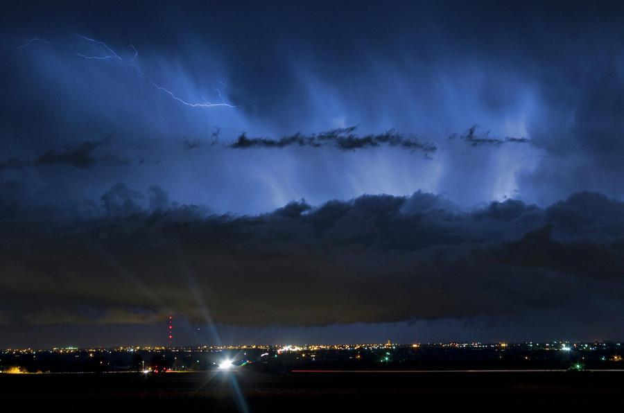 Lightning Cloud Burst Photograph