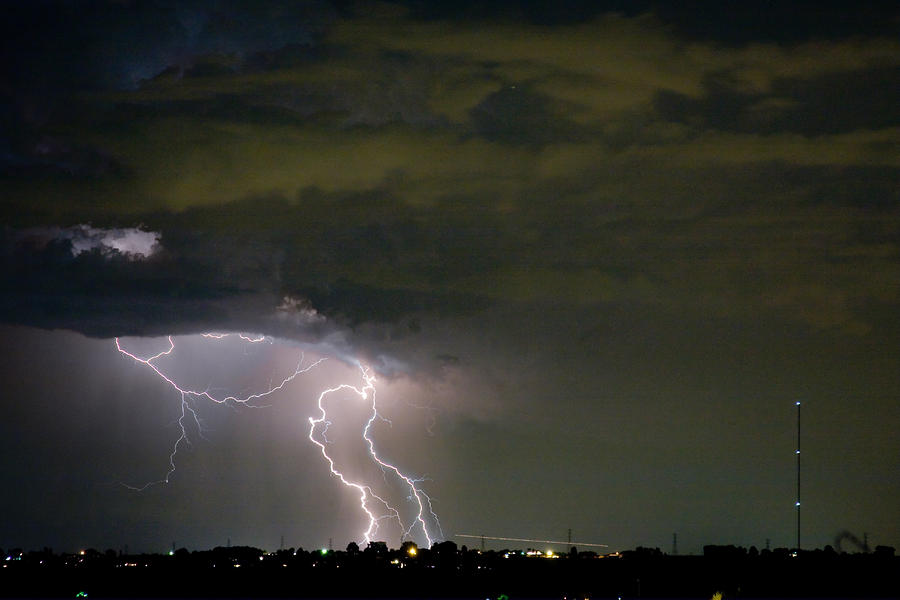Lightning Man In The Clouds Photograph