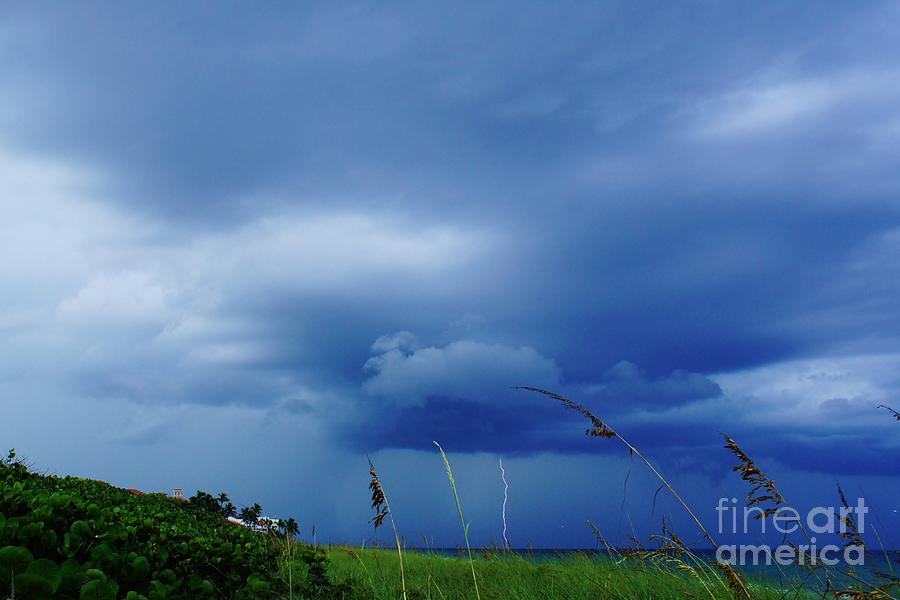 Lightning Photograph - Lightning Off Shore by Lynda Dawson-Youngclaus