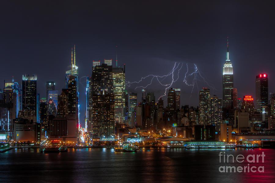 Lightning Over New York City IIi Photograph