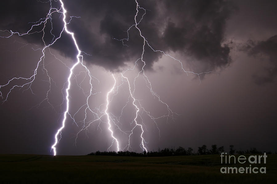 Lightning Storm In Alberta, Canada Photograph