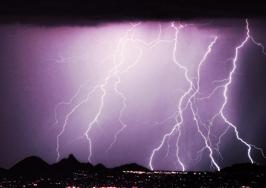 Lightning Storm North Scottsdale Az 85255 Photograph  - Lightning Storm North Scottsdale Az 85255 Fine Art Print