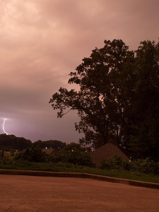 Mississippi Photograph - Lightning Strike In Mississippi by Joshua House