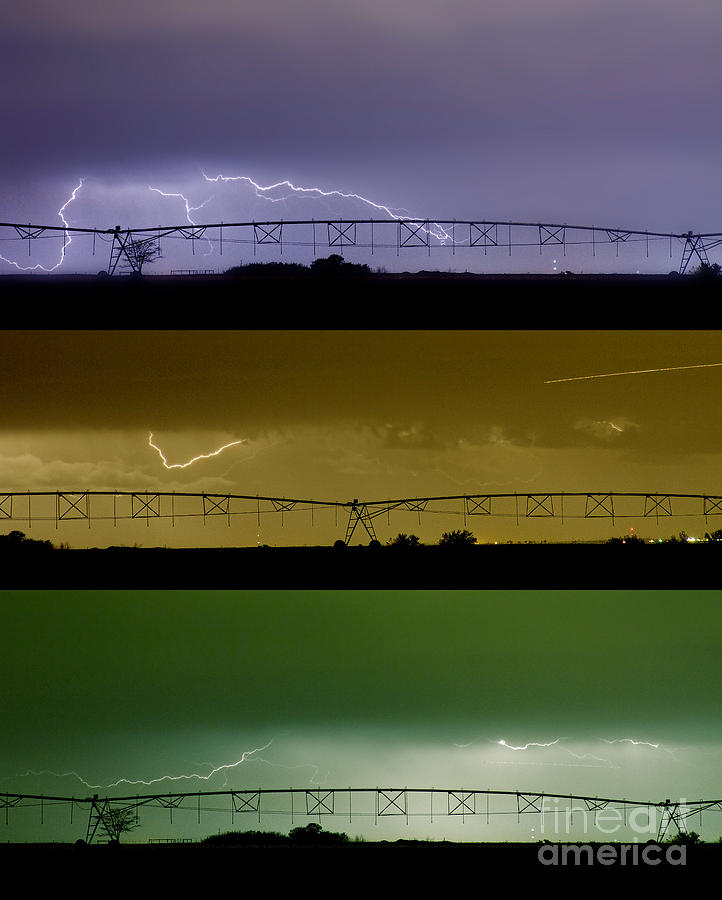 Lightning Warhol  Abstract Photograph