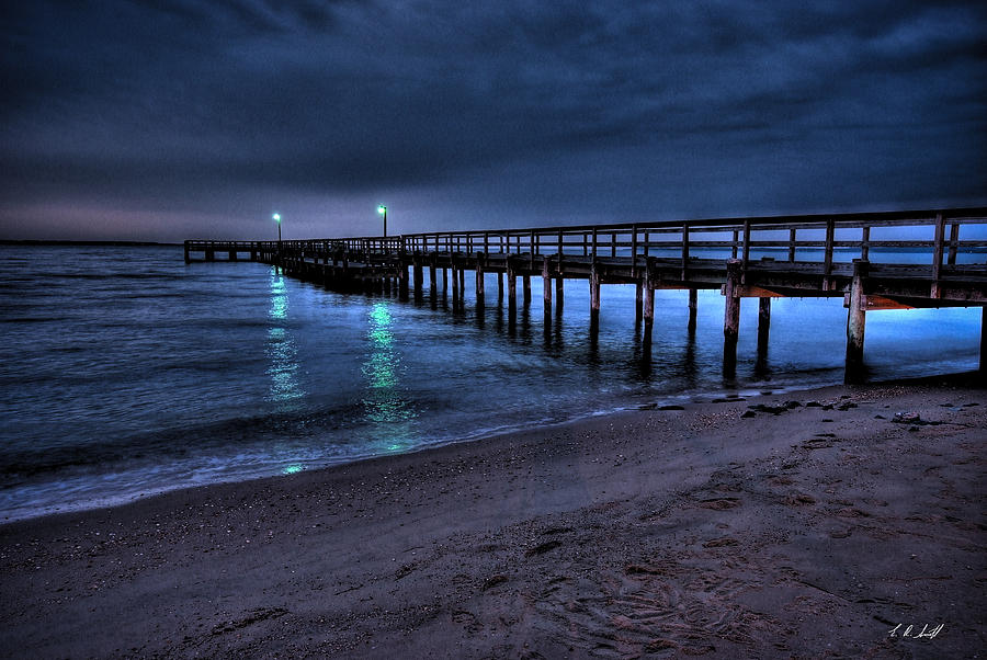 Lights At The End Of The Pier Photograph  - Lights At The End Of The Pier Fine Art Print