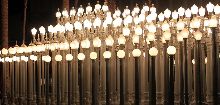 Lights At The Lacma La County Museum Art 0766 by Edward