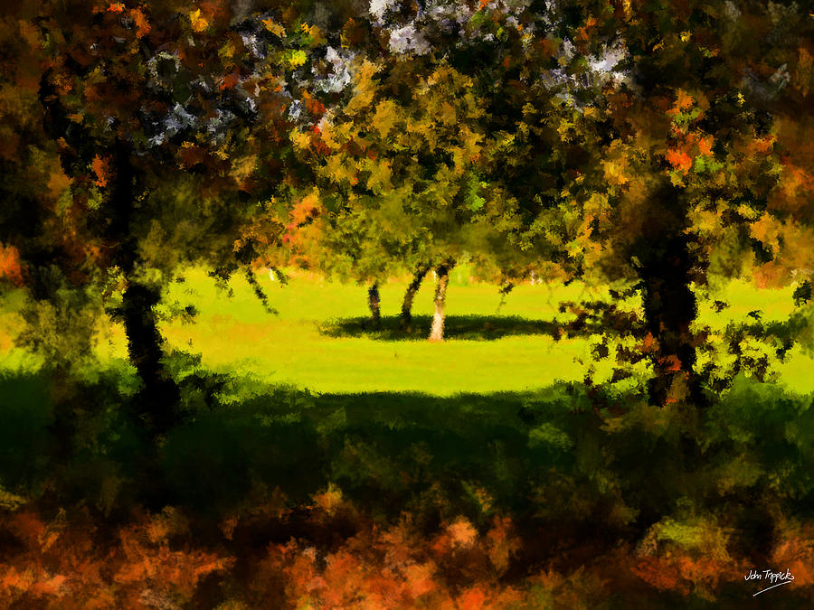 Light.shade.tree.shadow. Painting  - Light.shade.tree.shadow. Fine Art Print