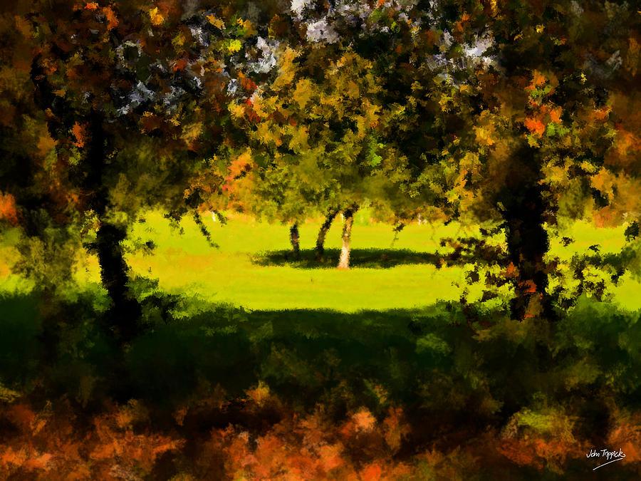 Light.shade.tree.shadow. Painting