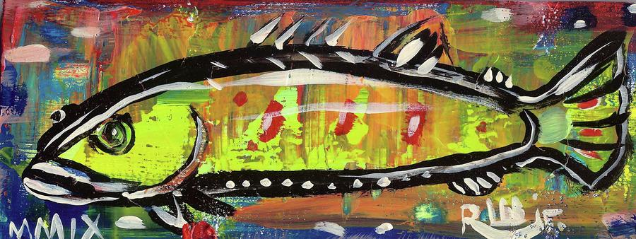 Lil Funky Folk Fish Number Twelve Painting  - Lil Funky Folk Fish Number Twelve Fine Art Print
