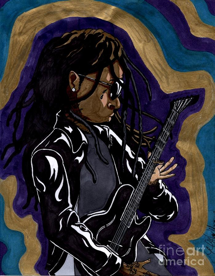 Lil Wayne And His Guitar Painting