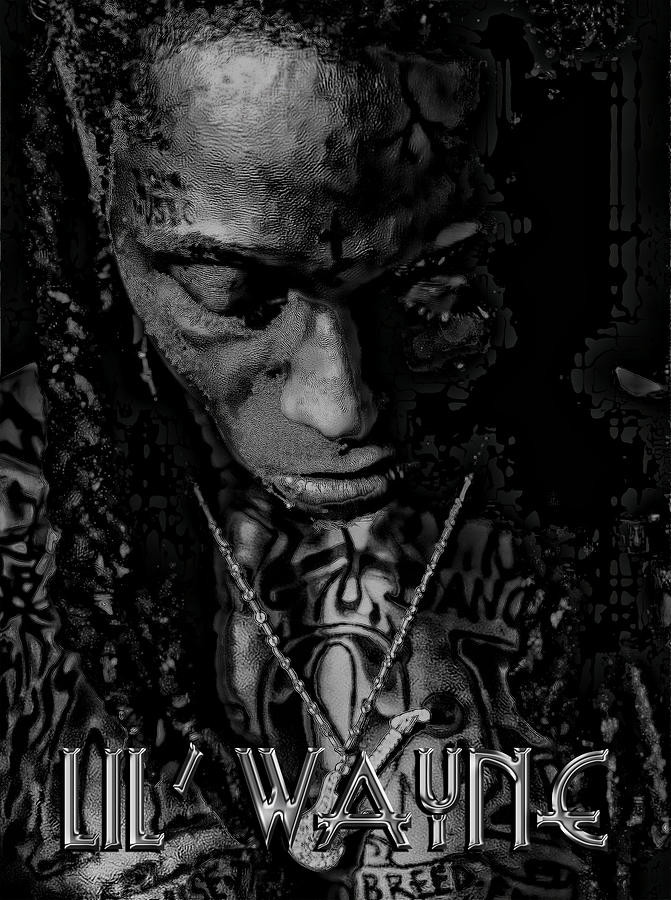 Lil Wayne distorted Mind Digital Art  - Lil Wayne distorted Mind Fine Art Print