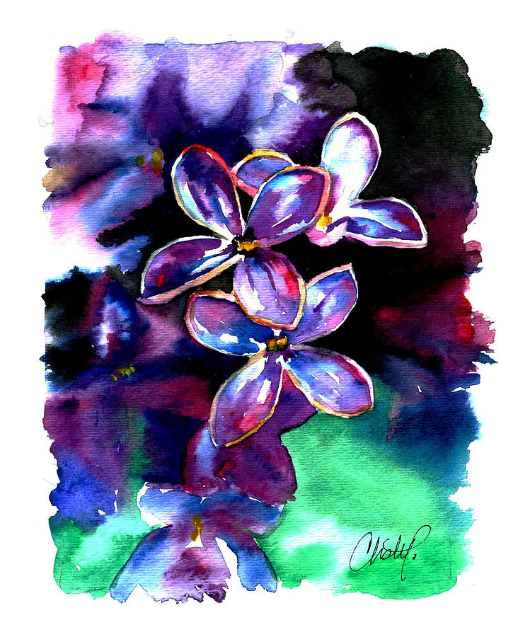Lilac Blossom Painting