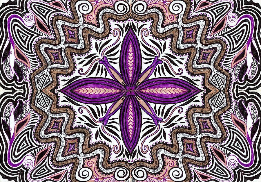 Lilac Garden1 Drawing