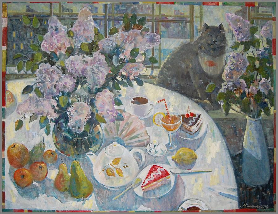 Lilacs In St. Petersburg Painting