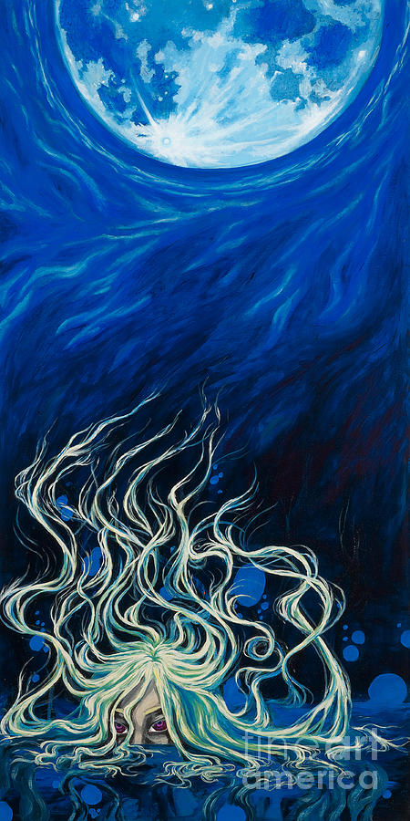Moon Painting - Lilitu by Jenny Troolines