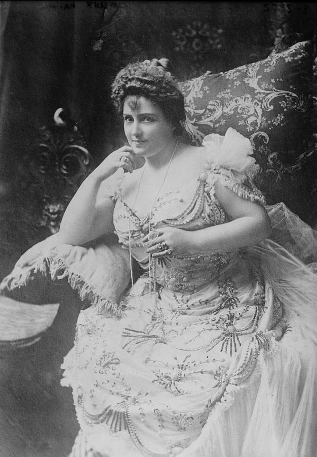 Lillian Russell 1861-1922, The Plump Photograph  - Lillian Russell 1861-1922, The Plump Fine Art Print
