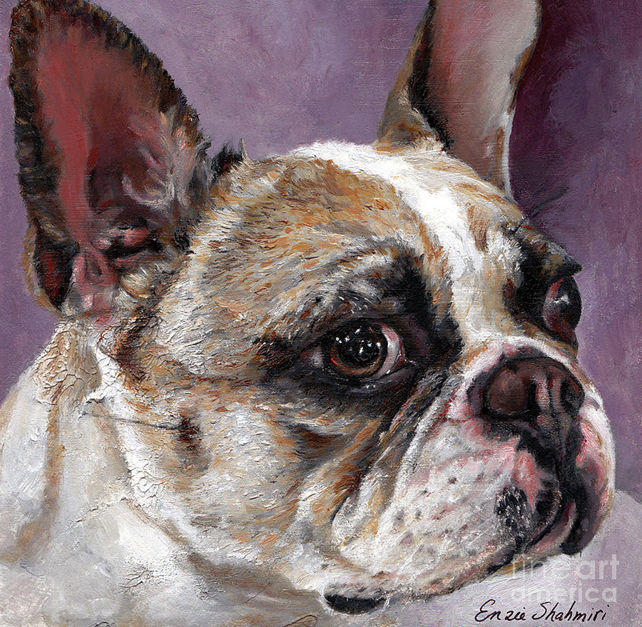 Lilly The French Bulldog Painting  - Lilly The French Bulldog Fine Art Print