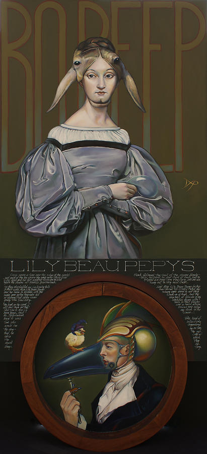 Sheep Painting - Lily Beau Pepys by Patrick Anthony Pierson